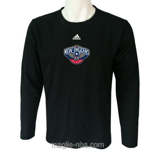 Maglie manica lunga New Orleans Pelicans nero