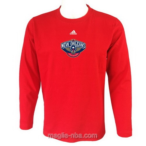 Maglie manica lunga New Orleans Pelicans rosso