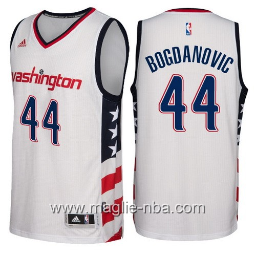 Maglie nba 2016-2017 nuovo Bojan Bogdanovic #44 Washington Wizards bianco
