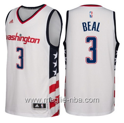Maglie nba 2016-2017 nuovo Bradley Beal #3 Washington Wizards bianco