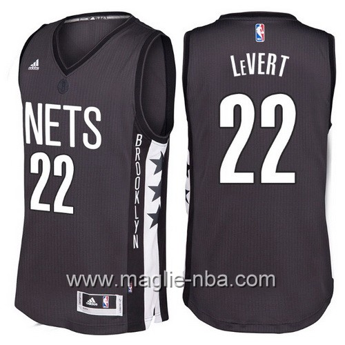 Maglie nba 2016 2017 Brooklyn Nets Caris LeVert #22 nera