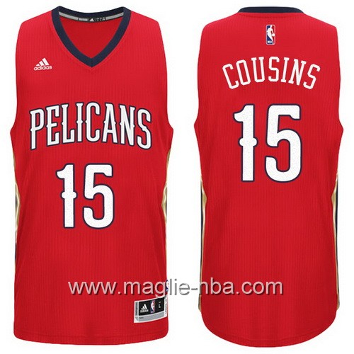 Maglie nba 2016 2017 New Orleans Pelicans DeMarcus Cousins #15 rosso