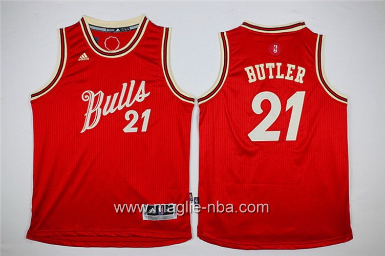Maglie nba 2016 bambino Chicago Bulls Jimmy Butler #21 rosso