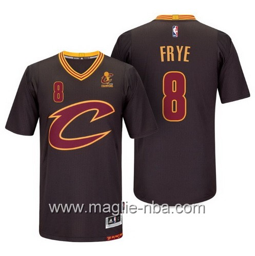 Maglie nba 2016 Cleveland Cavaliers Channing Frye #8 nero