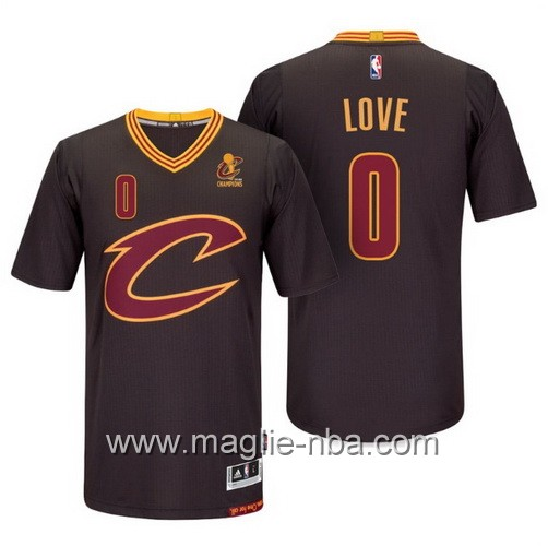 Maglie nba 2016 Cleveland Cavaliers Kevin Love #0 nero