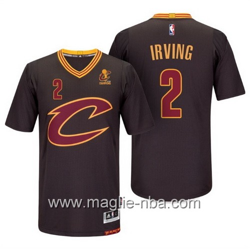 Maglie nba 2016 Cleveland Cavaliers Kyrie Irving #2 nero