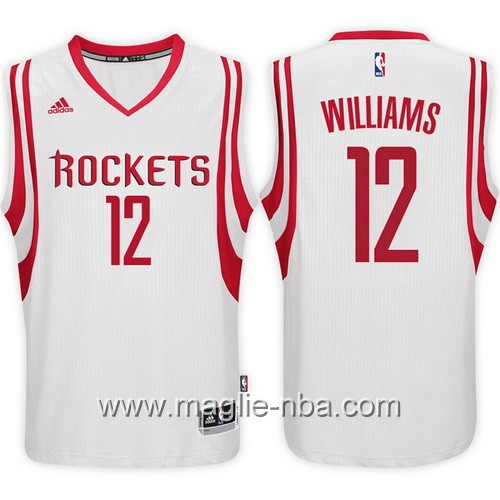 Maglie nba 2017 Lou Williams #12 Houston Rockets bianco