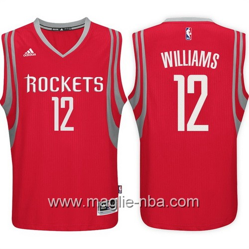 Maglie nba 2017 Lou Williams #12 Houston Rockets rosso