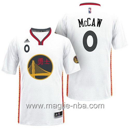 Maglie nba 2017 Patrick McCaw #0 Golden State Warriors bianco