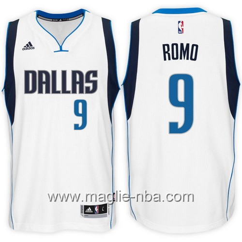 Maglie nba 2017 Tony Romo #9 bianco Dallas Mavericks