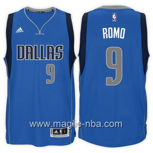 Maglie nba 2017 Tony Romo #9 blu Dallas Mavericks
