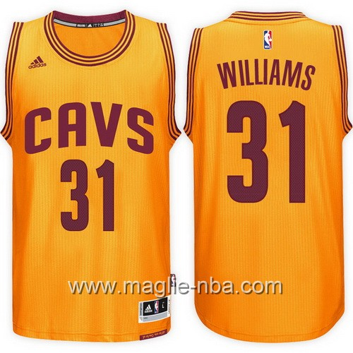 Maglie nba 2017 Cleveland Cavaliers Deron Williams #31 giallo