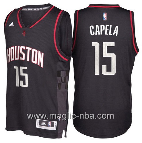Maglie nba 2017 Clint Capela #15 Houston Rockets nero