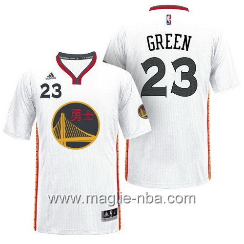 Maglie nba 2017 Draymond Green #23 Golden State Warriors bianco