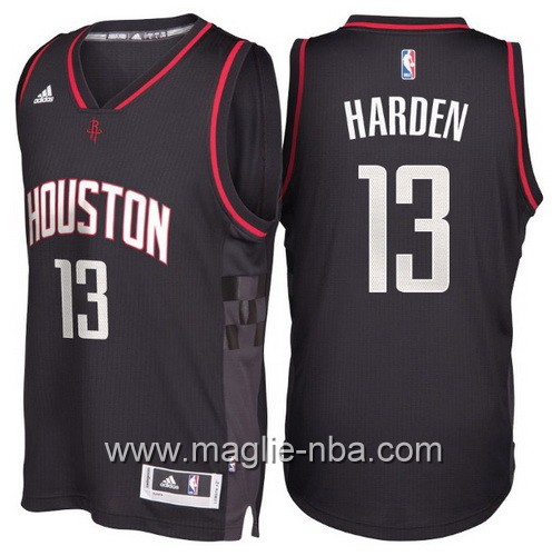 Maglie nba 2017 James Harden #13 Houston Rockets nero