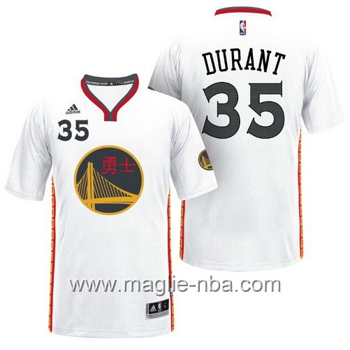 Maglie nba 2017 Kevin Durant #35 Golden State Warriors bianco
