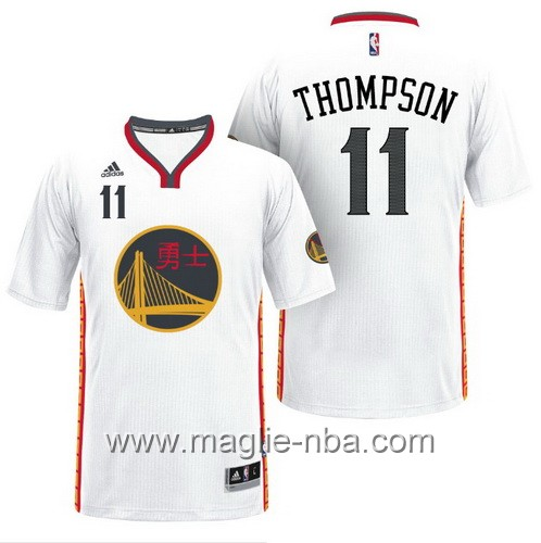 Maglie nba 2017 Klay Thompson #11 Golden State Warriors bianco