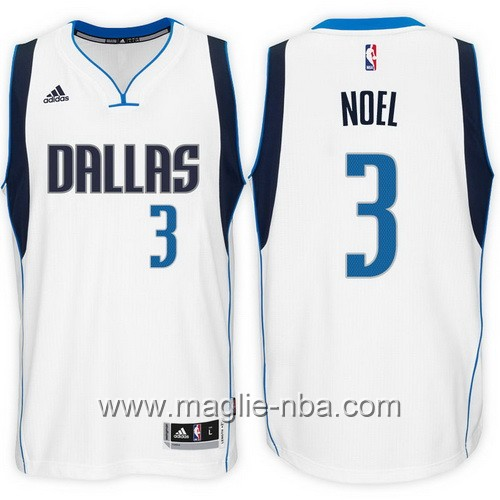 Maglie nba 2017 Nerlens Noel #3 bianco Dallas Mavericks