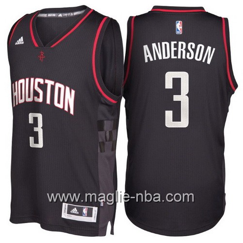 Maglie nba 2017 Ryan Anderso #3 Houston Rockets nero