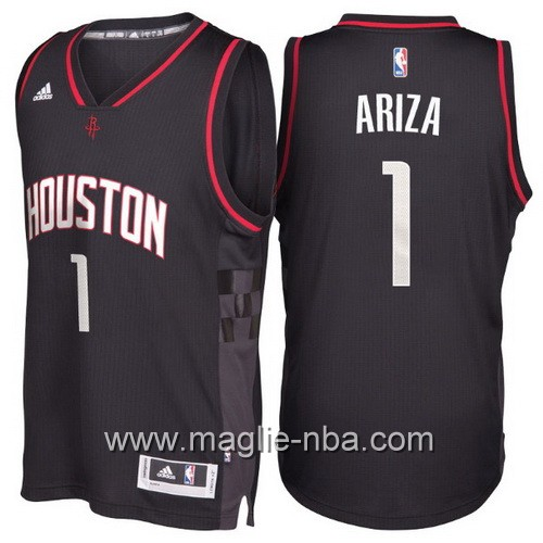 Maglie nba 2017 Trevor Ariza #1 Houston Rockets nero