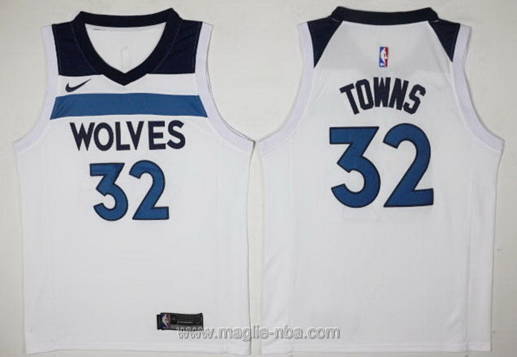 Maglie nba Nike #32 Karl-Anthony Minnesota Timberwolves bianco
