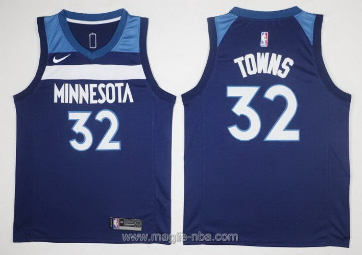Maglie nba Nike #32 Karl-Anthony Minnesota Timberwolves blu