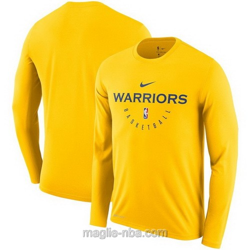 Maglie nba Nike manica lunga Golden State Warriors giallo
