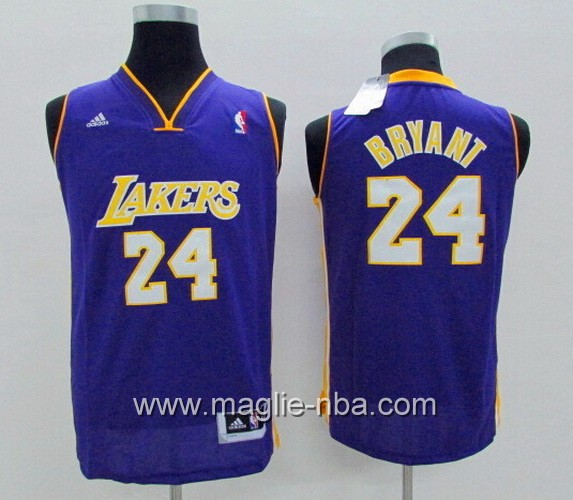 Maglie nba bambino Los Angeles Lakers Kobe Bryant #24 porpora