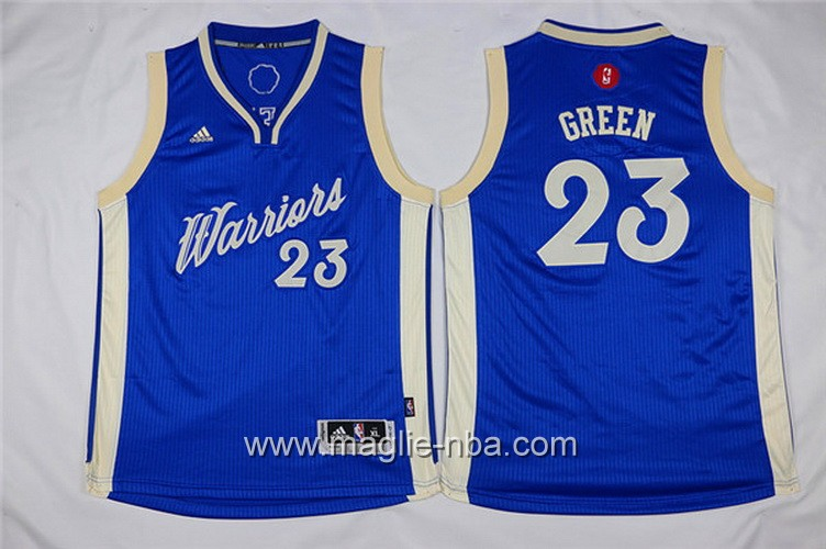 Maglie nba bambino Natale Golden State Warriors Draymond Green #23 blu