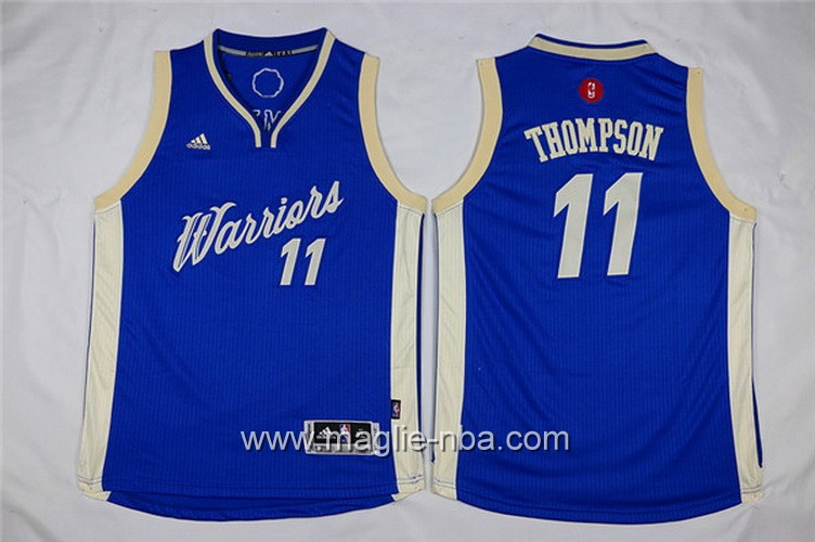 Maglie nba bambino Natale Golden State Warriors Klay Thompson #11 blu
