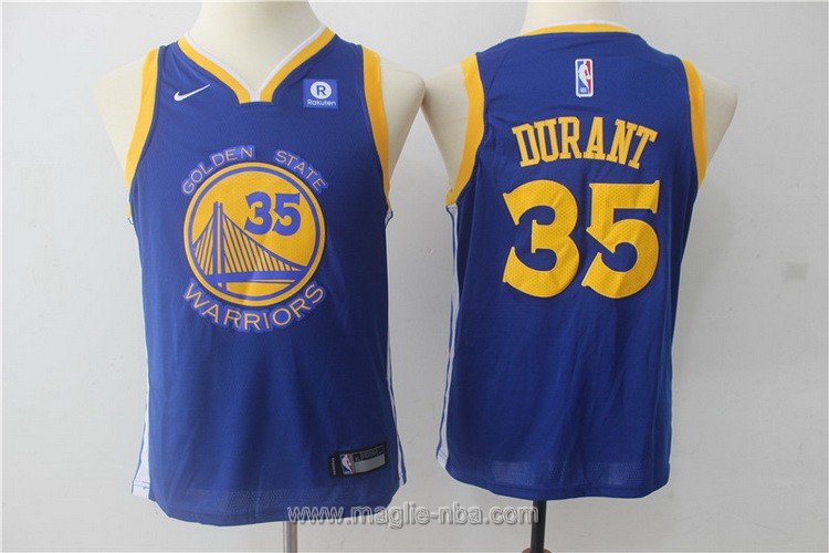 Maglie nba bambino Nike Golden State Warriors Kevin Durant #35 blu