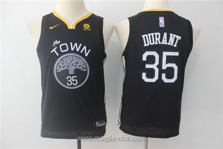 Maglie nba bambino Nike Golden State Warriors Kevin Durant #35 nero