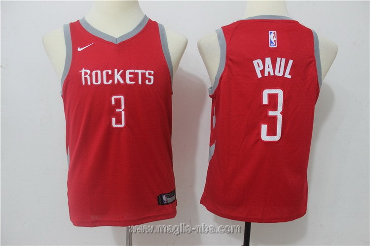 Maglie nba bambino Nike Houston Rockets Chris Paul #3 rosso