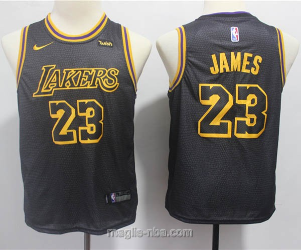 Maglie nba bambino Nike Los Angeles Lakers LeBron James #23 nero