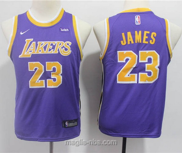 Maglie nba bambino Nike Los Angeles Lakers LeBron James #23 porpora