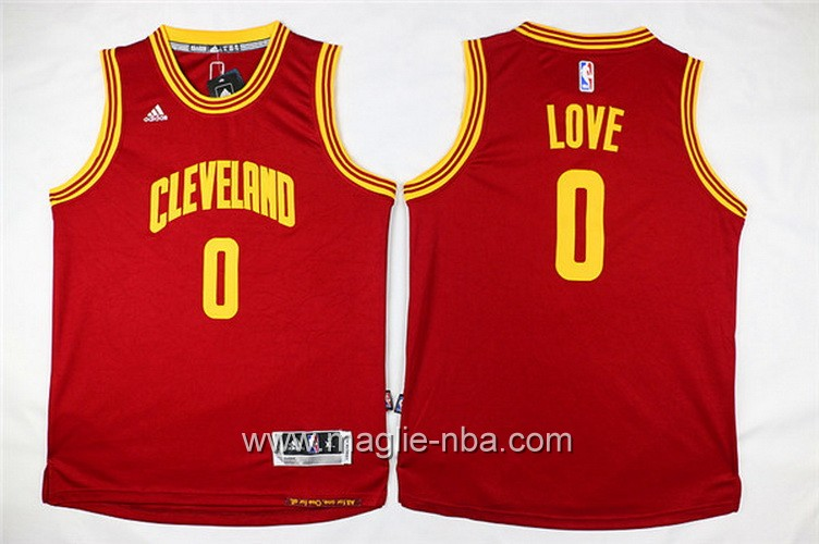 Maglie nba bambino Cleveland Cavaliers Kevin Love #0 rosso