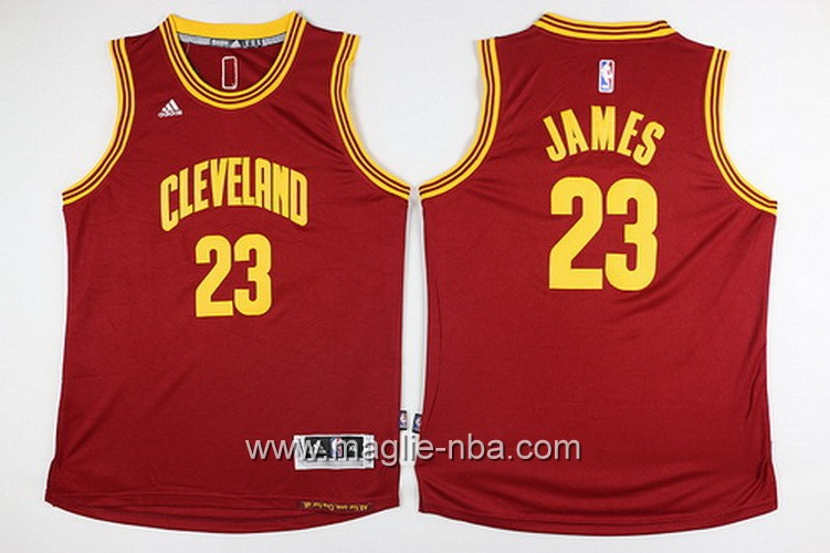Maglie nba bambino Cleveland Cavaliers LeBron James #23 rosso
