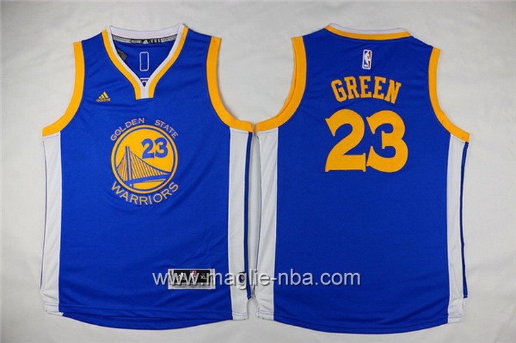 Maglie nba bambino Golden State Warriors Draymond Green #23 blu