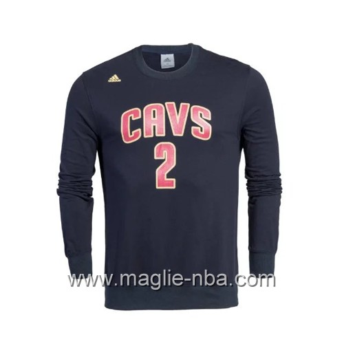 Maglione Adidas NBA Cleveland Cavaliers Kyrie Irving #2 blu marino