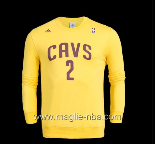 Maglione Adidas NBA Cleveland Cavaliers Kyrie Irving #2 giallo