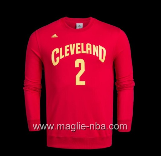 Maglione Adidas NBA Cleveland Cavaliers Kyrie Irving #2 rosso