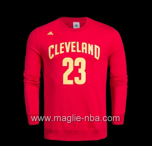 Maglione Adidas NBA Cleveland Cavaliers LeBron James #23 rosso