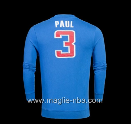 Maglione Adidas NBA Los Angeles Clippers Chris Paul #3 blu