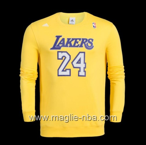 Maglione Adidas NBA Los Angeles Lakers Kobe Bryant #24 giallo