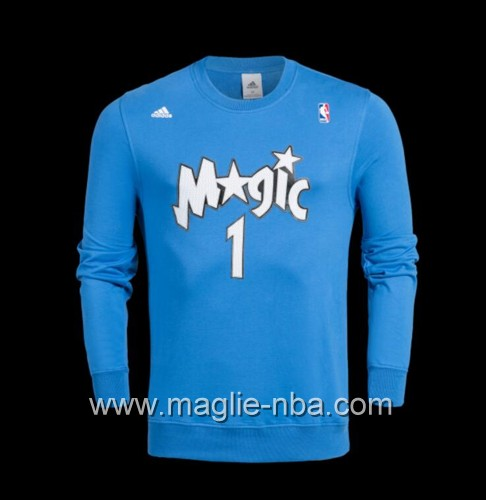 Maglione Adidas NBA Orlando Magic Tracy McGrady #1 blu