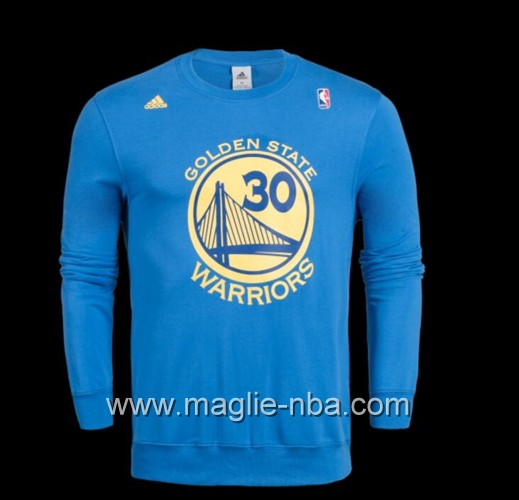 Maglione Adidas NBA Golden State Warriors Stephen Curry #30 blu