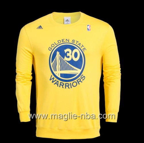 Maglione Adidas NBA Golden State Warriors Stephen Curry #30 giallo