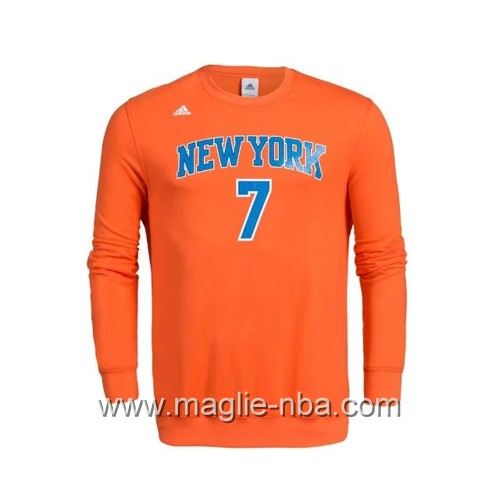 Maglione Adidas NBA New York Knicks Carmelo Anthony #7 arancione