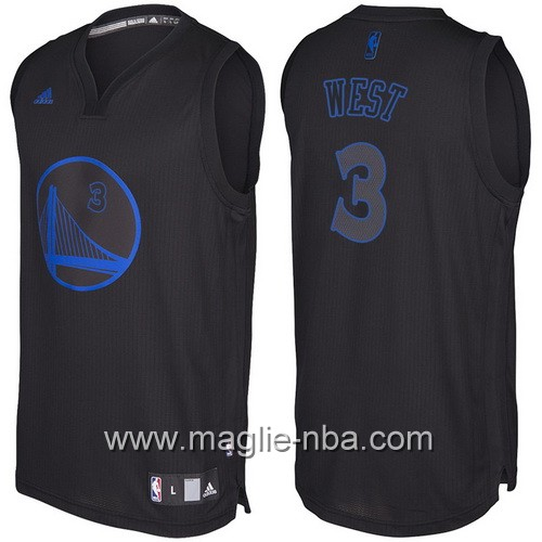 Nuovo Swingman maglia Golden State Warriors David West #3 nero