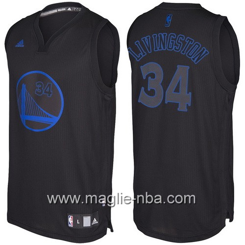 Nuovo Swingman maglia Golden State Warriors Shaun Livingston #34 nero